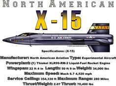 WARBIRDSHIRTS.COM presents United States Warbirds, available on Polos, Caps, T-shirts, Sweatshirts and more. featuring here in our United States collection the X-15