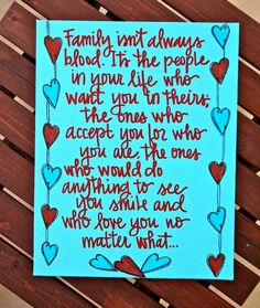 Family is heart, not just blood!