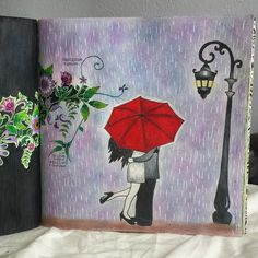 Instagram media fernanda_ssenna - Chuvinha de amor ... Rain ... usei lápis staedler de 36 cores e caneta posca branca #thesecretgarden #sissecretas #jardimsecretotop #jardimcolorido  #johanna_basford #johannabasford #rain #inlove #jardimsecretoinspire #esrarengizbahçe #esrarengizbahce #jardimsecretolivro