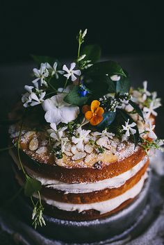 Orange Almond Cake with Orange Blossom Buttercream | Adventures in Cooking by Eva Kosmas Flores | Adventures in Cooking