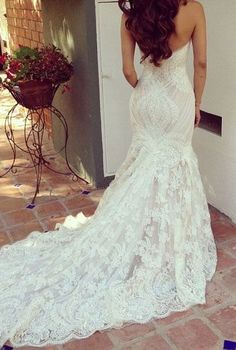 Vestido de novia corte sirena | http://bodatotal.com | wedding dress, novias, brides, bride to be