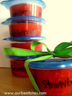 Strawberry Freezer Jam - this is an outstanding Recipe!! Small homemade gift everyone will love!