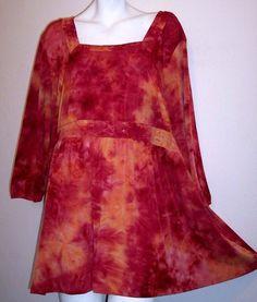 Avenue Top 26 28 Boho Hippie Tie Dye Stretch Knit Tunic Shirt Plus Size 26/28 #Avenue #KnitTop #Casual