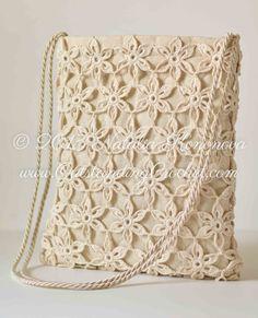 Outstanding Crochet: Free Crochet Tote Bag Pattern - Summer Tote Bag at. Free Crochet Bag, Crochet Tote, Crochet Handbags, Crochet Purses, Crochet Summer, Crochet Flower, Scarf Crochet, Crochet Stitch, Thread Crochet