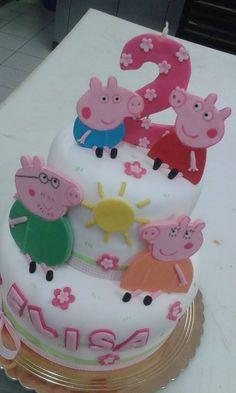 Peppa Pig! torta della pasticceria La Mimosa di http://www.simocakedesigner.it