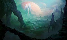 Alien Planet by AlynSpiller.deviantart.com on @DeviantArt