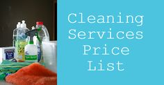 Cleaning services price list - calculate how much it will cost for cleaning services for your home's size. Get an price estimate for your city. Cleaning Services Prices, Deep Cleaning Checklist, Housekeeper, Price List, Spring Cleaning, Business, Pricing Table, Store, Business Illustration