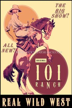 Cowgirl Print 101 Ranch Rodeo Wild West by LuckyStarsRanchTX Western Signs, Western Art, Western Theme, Western Decor, Vintage Cowgirl, Cowboy And Cowgirl, Vintage Horse, Sale Poster, Poster On