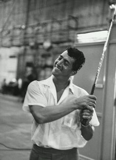 """Dean Martin- He loved golf. He would often times have golf clubs on the set of his films with him. In between scenes of the incompleted film """"Something's Got To Give"""" (1962) he would swing his golf club around while waiting for Miss Marilyn Monroe to appear on the set to do a scene."""