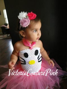 ready to ship for halloween hello kitty inspired costume tutu dress - Halloween Hello Kitty Costume