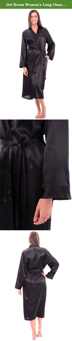Del Rossa Women's Long Classic Satin Lounge Robe, 2X Black (A0755BLK2X). This women's long satin robe from Alexander Del Rossa would be a great addition to any sleepwear collection. Del Rossa has combined a classic cut lounge robe with the finest available satin charmeuse fabrics making this robe as comfortable and enjoyable to wear as it is elegant to the eye. Simply gorgeous. If you aren't completely satisfied with your robe, returns are accepted. Washing Instructions: Wash in cool…