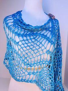 CrochetKim Free Crochet Pattern | Pineapple Caress Shawl Wrap @crochetkim