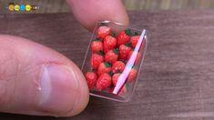 DIY Fake food - Miniature Strawberries ミニチュアいちごパック作り