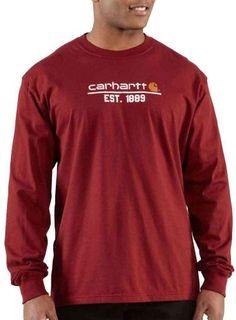 Carhartt Men's Classic Logo Long Sleeve T-Shirt, « Impulse Clothes