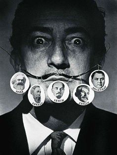 Salvador Dali. Behind every great thinker is a mustache that supports them.