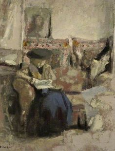 Seated Woman, Reading by Jean Edouard Vuillard The Fitzwilliam Museum      Date painted: c.1905     Oil on canvas, 32.5 x 27.3 cm     Collection: The Fitzwilliam Museum BBC Your Paintings