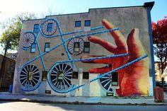 Street Art in Baltimore: Gaia, Pablo Machioli, Decertor, LNY and 3d Street Art, Street Art Graffiti, Michael Owen, City Pages, Open Wall, Graffiti Wall, New York Street, Banksy, Artist At Work