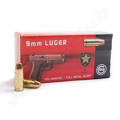Geco 9mm Luger Vollmantel Pistolenpatronen 154gr   - 50 Stück pro Packung  -