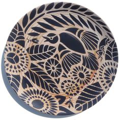 "10"" Indian Lace Plate - Black"
