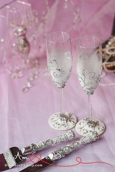 White & silver wedding set cake server and knife от DiAmoreDS #wedding glasses, #champagne glasses, #wedding champagne glasses, #bride and groom champagne flutes, purple wedding, #champagne flutes, #toasting flutes, #black and white wedding, #wedding toasting glasses, #wedding flutes, #personalized toasting flutes, #personalized wedding glasses, #wedding, #wedding shot glasses, #shot glasses, personalized wedding flutes, #wedding glasses set