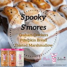 Pink zebra Sprinkles Recipe, Pink Zebra Sprinkles, Fall Scents, Toasted Marshmallow, Independent Consultant, Pumpkin Bread, Graham Crackers, Scentsy, Fall Recipes