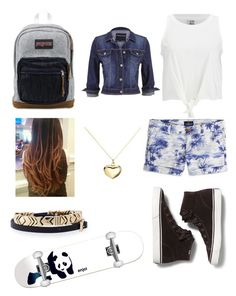 """Skating Home From School"" by isabel-ignacio ❤ liked on Polyvore featuring Keds, JanSport, Vero Moda, maurices, Enjoi, House of Harlow 1960, American Eagle Outfitters and Argento Vivo"