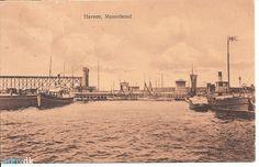 arkiv.dk | Havnen, Masnedsund. ca. 1923. Med drivkvaser. Signatur B1748 på Vordingborg Lokalhistoriske Arkiv.