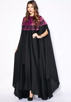Shop Haya's Closet multicolor Embroidered Cape Bisht - Women Shoes, Clothes, Accessories, Bags in Saudi