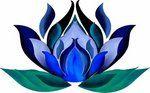 Love this blue illustration lotus