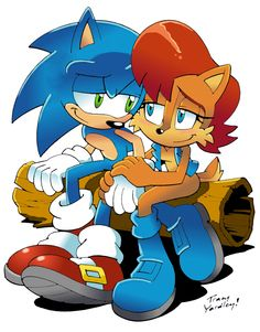 Sonic+and+Sally+by+Tracy+Yardley-Colored+by+CopperChipmunk.deviantart.com+on+@deviantART