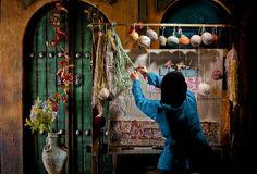 حائكة السجاد، #إيران Carpet weaver, #Iran