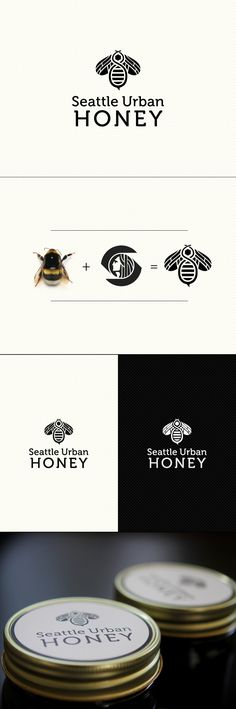 Seattle Urban Honey Logo #design #logo #branding