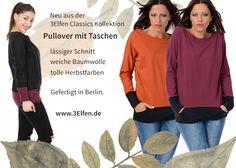 Pullover mit Taschen Elf, Pullover, Classic, Fall Color Schemes, Amazing, Cotton, Taschen, Derby, Classic Books