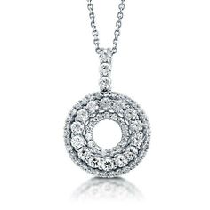 Cubic Zirconia CZ 925 Sterling Silver Circle Eternity Pendant Necklace - Nickel Free BERRICLE. $49.99. Nickel Free and Hypoallergenic. Gender : Women. Metal : Stamped 925. Stone Total Weight (ct.tw) : 1.33. Stone Type : Cubic Zirconia