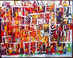 "Terra Firma Gallery -- Wosene Kosrof, ""House of the Poet"""