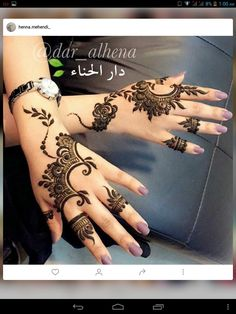 Eid ul Azha Simple And Easy Mehndi Designs For Girls Henna Hand Designs, Arabic Henna Designs, Mehndi Designs For Girls, Mehndi Designs 2018, Beautiful Henna Designs, Simple Mehndi Designs, Henna Tattoo Designs, Henna Tattoos, Unique Henna