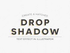 How To Create a Hatched Drop Shadow Text Effect in Illustrator