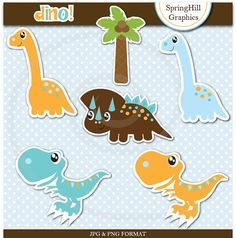 Instant Download Dinosaurs Digital Clip Art by SpringHillGraphics, $5.00
