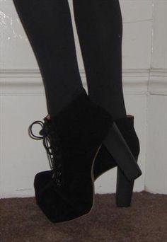 2f4c95a9871b Block heel lace up shoe boots Platform Block Heels