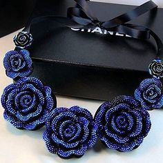 USD $ 9.99 - European and American Vintage Blue Rose Resin Necklace (buy 1 get 2 free gifts), Free Shipping On All Gadgets!