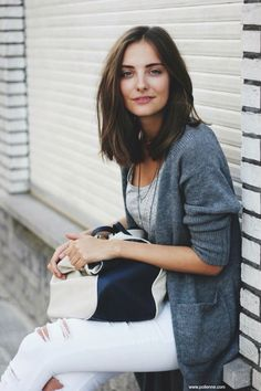 Layered lob french chic