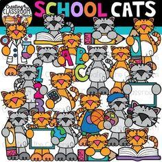 School Cats Clipart {School Clipart} Creating4 the Classroom Clipart