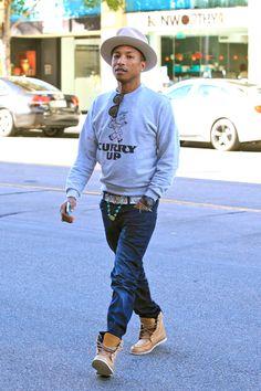 Cuffed, Frayed, and Cutoff: How Pharrell Williams Does Denim