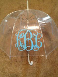 Monogrammed umbrella...cute gift idea ideas-ideas-ideas