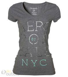 Camiseta feminina Aéropostale Breif Grey