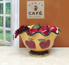 Tuscany-Country-Apple-Fruit-Bowl-ACK-Kitchen-Baking-Serving-Holiday-Gift
