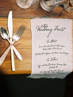 Gourmet Wedding Details for the Food Obsessed - Style Me Pretty Mod Wedding, New York Wedding, Wedding Menu, Wedding Stationary, Wedding Events, Rustic Wedding, Weddings, Wedding Ideas, Wedding Receptions