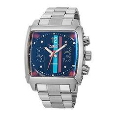 Reloj de pulsera autómatico GuTe para hombre con esfera cuadrada, color negro