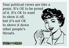 my political stance..........