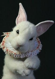 White rabbit Alice in wonderland costume Needle Felted Animals, Felt Animals, Cute Animals, Needle Felting, Alice In Wonderland Aesthetic, Adventures In Wonderland, Somebunny Loves You, Alice Liddell, Pierrot